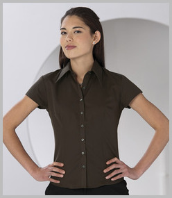 Russell Ladies Cap Sleeve Tencel Fitted Shirt