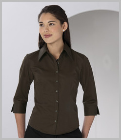 Russell Ladies 3/4 Sleeve Tencel Fitted Shirt