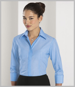 Russell Ladies 3/4 Sleeve Tencel Corporate Shirt