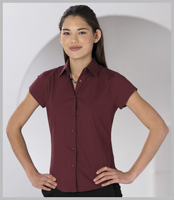 Russell Ladies Short Sleeve Easy Care Fitted Shirt