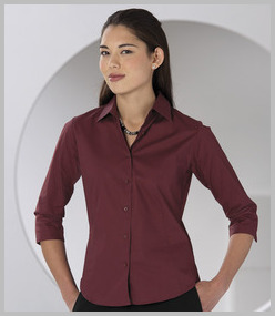 Russell Ladies 3/4 Sleeve Easy Care Fitted Shirt
