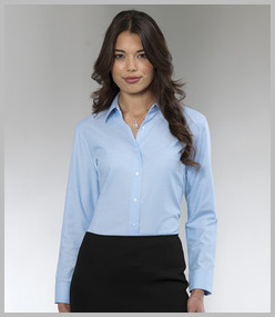 Russell Ladies Long Sleeve Easy Care Oxford Shirt