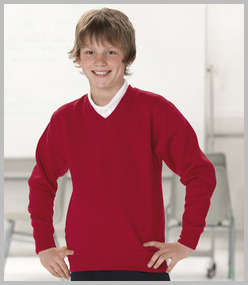Jerzees Kids V Neck Sweatshirt