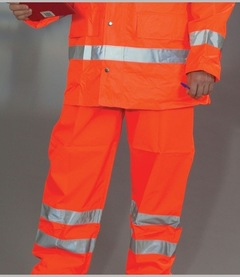 Yoko Hi-Vis Contractors Trousers (Orange)