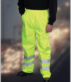Yoko Hi-Vis Contractors Trousers (Yellow)