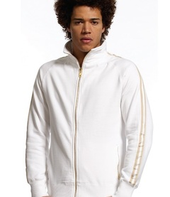 Continental Mens Sweat Jacket With Pockets & Stripes