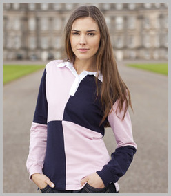 Front Row Ladies Quartered Stretch Rugby Shirt