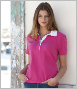 Front Row Ladies Short Sleeve Stretch Rugby Shirt