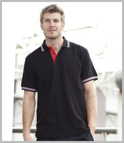 Finden & Hales Chequered Flag Polo Shirt