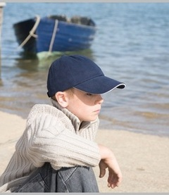 Result Childrens Low Profile Heavy Brushed Cotton Cap with Sandwich Peak