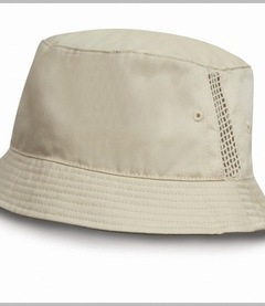 Result Deluxe Washed Cotton Bucket Hat with Side Mesh Panels