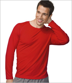 Hanes Tagless Long Sleeve Sports T-shirt