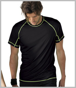 Kariban Sport Contrast Stitch Performance T-shirt