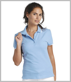 Ladies Contrast Polo Shirts
