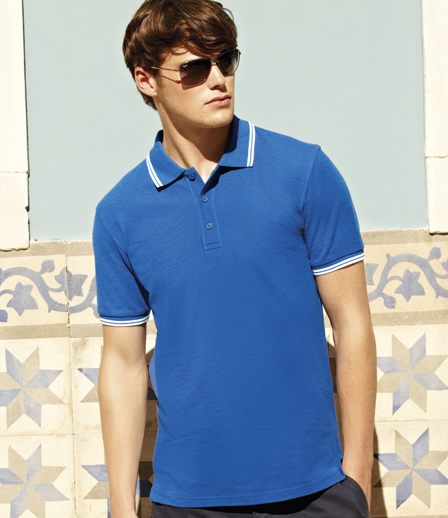 Fruit of the Loom Premium Tipped Pique Polo Shirt