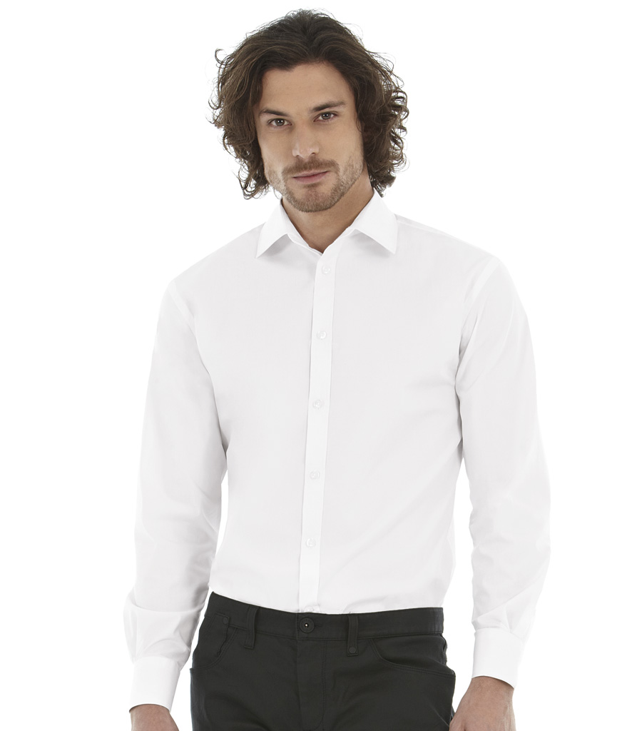 B&C Black Tie Long Sleeve Shirt