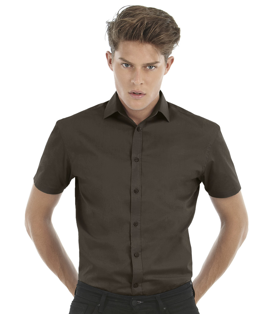 B&C Black Tie Short Sleeve Shirt
