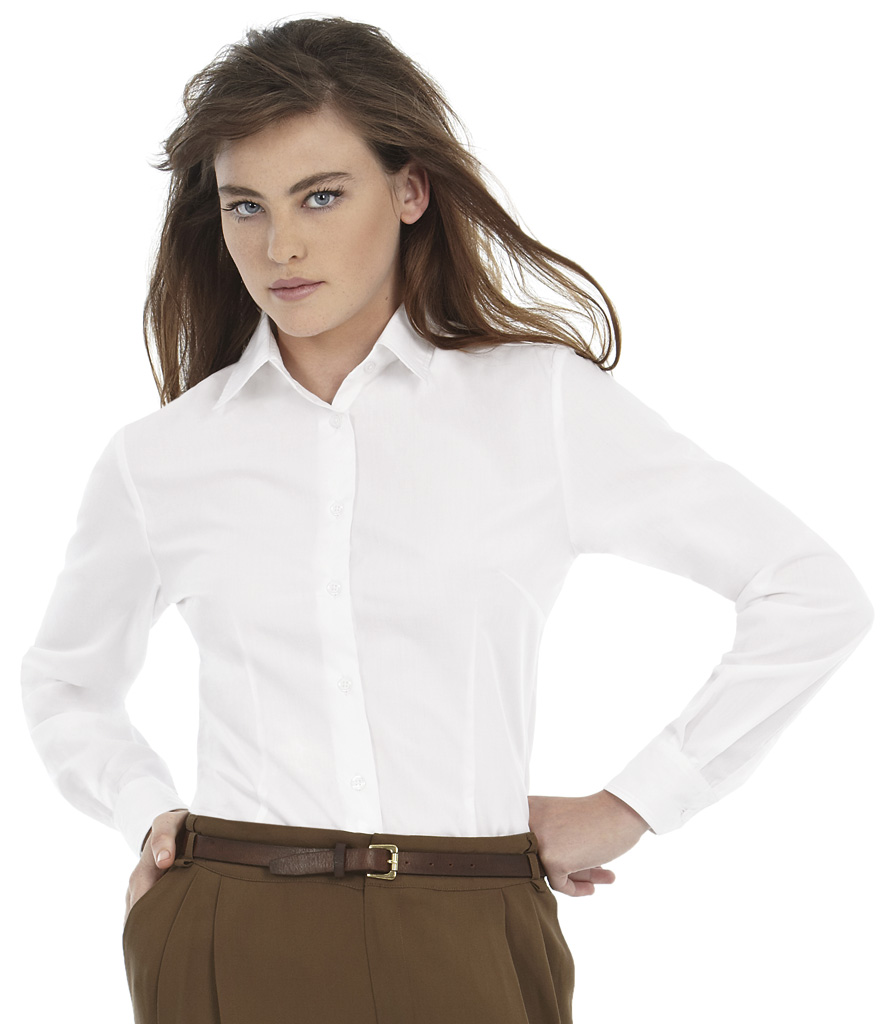 B&C Ladies Smart Long Sleeve Shirt