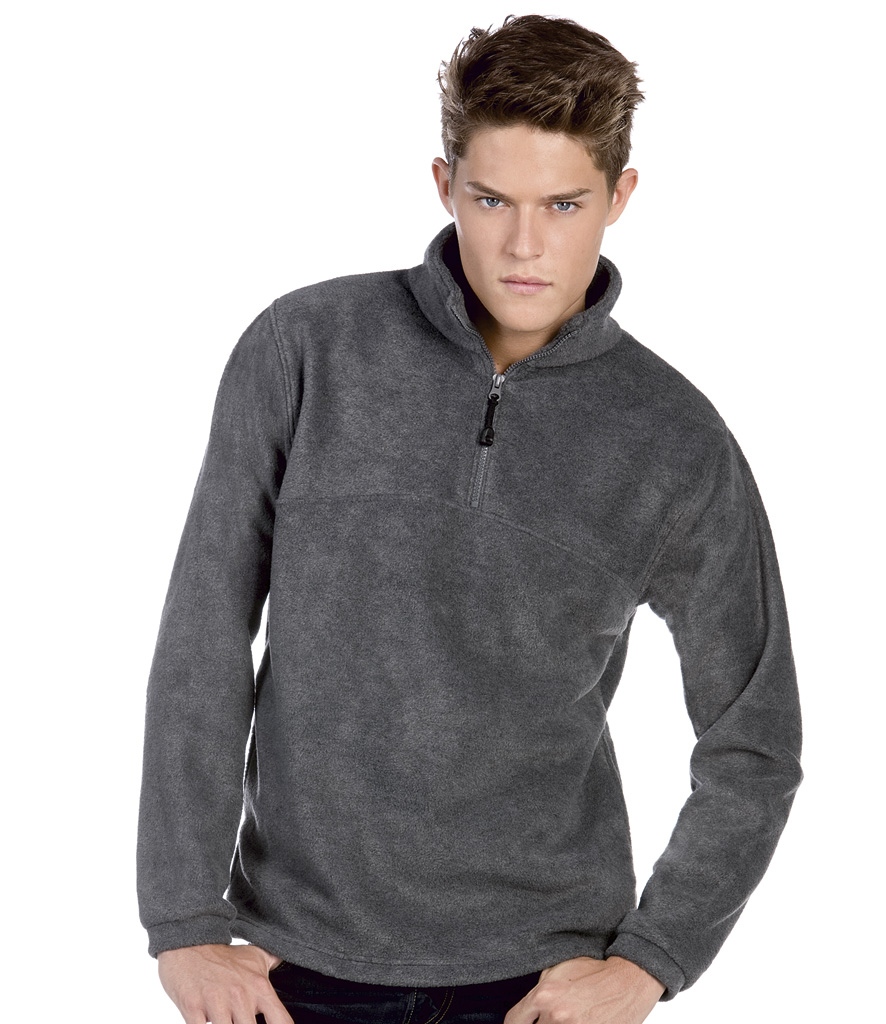 B&C Highlander+ Zip Neck Fleece