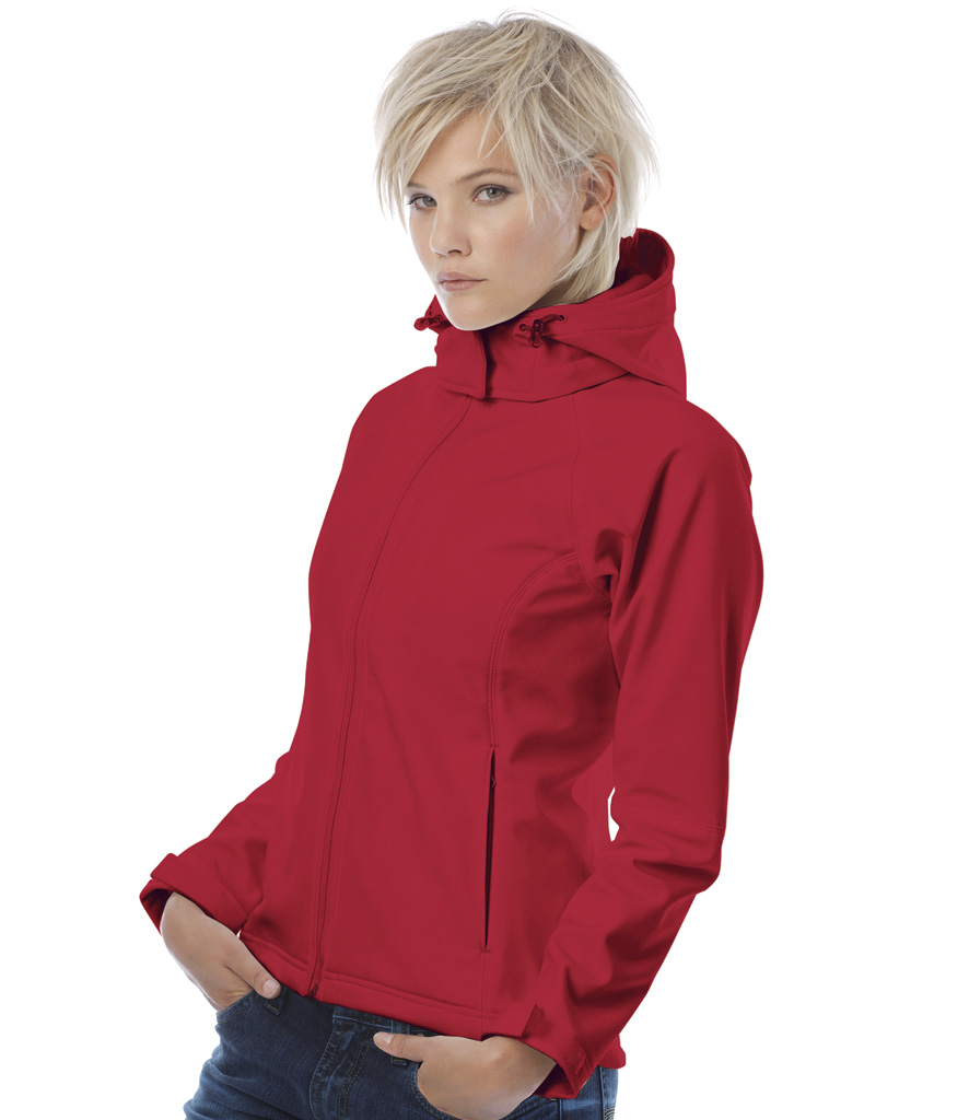 B&C Ladies Hooded Soft Shell Jacket