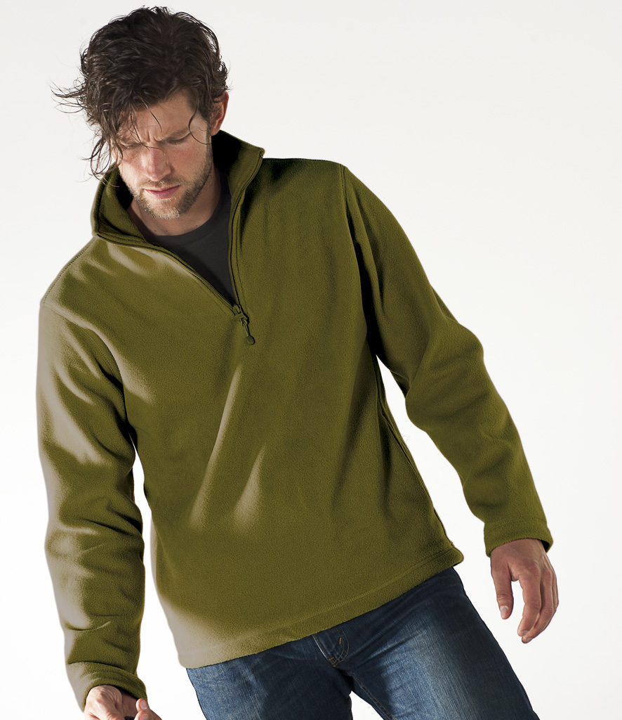 Kariban Enzo Zip Neck Micro Fleece