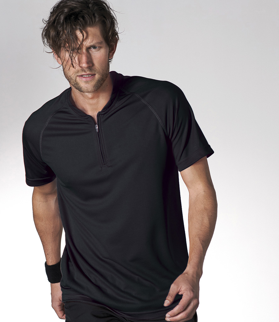 Kariban Sport Zip Neck T-Shirt