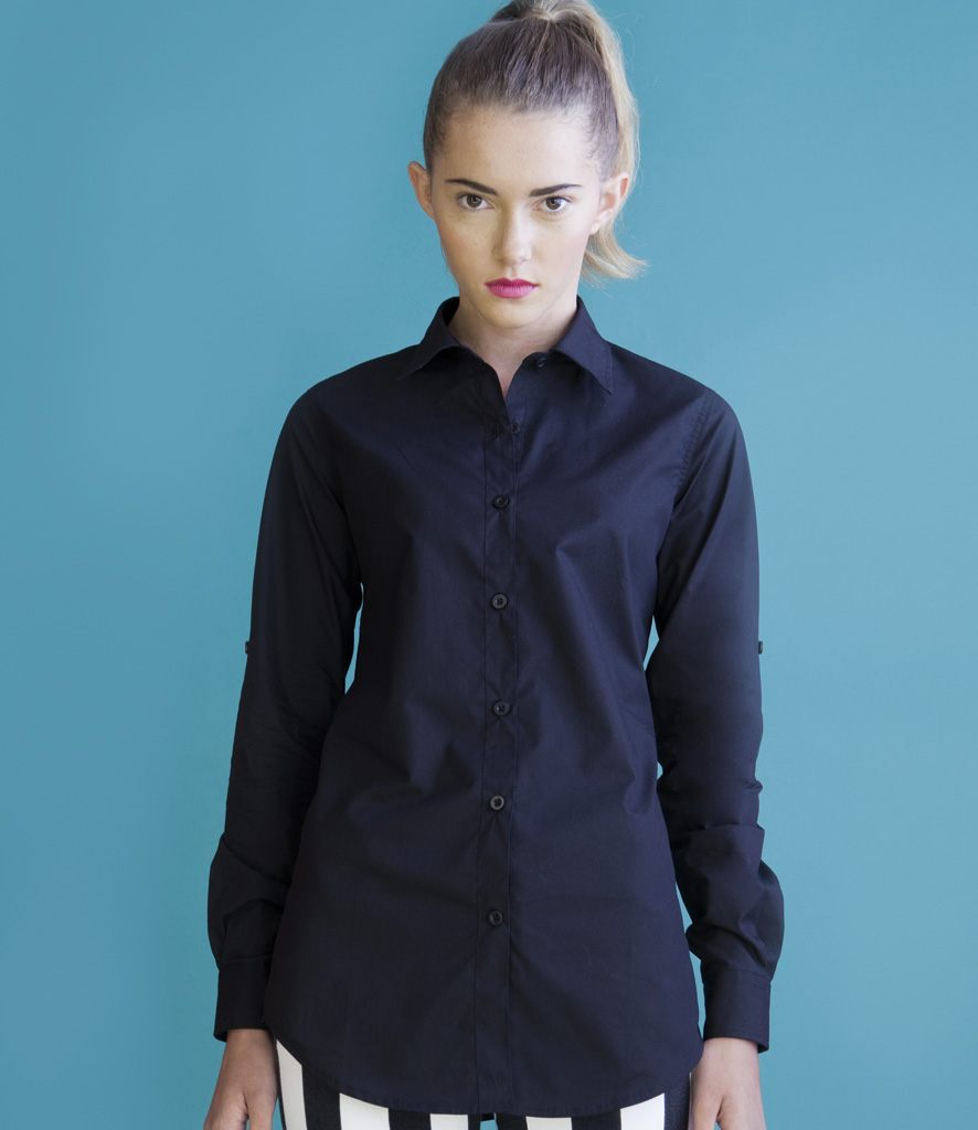 Skinnifit Roll Sleeve Shirt