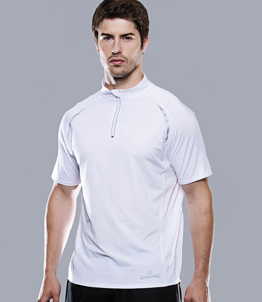 Spalding Endurance Zip Neck Top