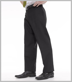 Premier Flat Fronted Polyester/Wool Trousers
