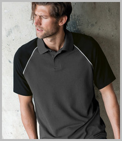 Kariban Baseball Pique Polo Shirt