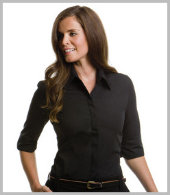 Kustom Kit Ladies 3/4 Sleeve Continental Blouse
