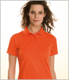 Hanes Ladies Elegance Top Pique Polo Shirt