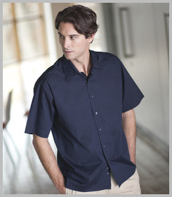 Henbury Short Sleeve Semi-Fitted Shirt