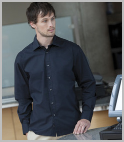 Henbury Long Sleeve Semi-Fitted Shirt