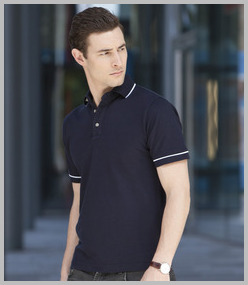Henbury Contrast Tipped Polo Shirt