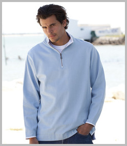 Front Row Collection Super Soft Zip Neck Sweatshirt